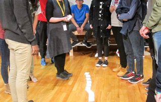 EF Academy students and Kathleen Sullivan, Nuclear Fuel Chain Game