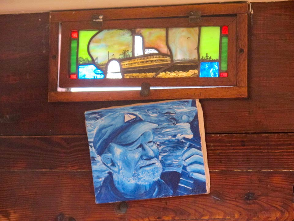 Clearwater Sloop interior, Pete Seeger